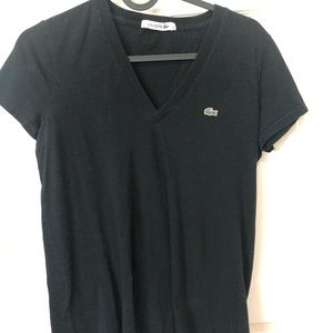 Lacoste women's v neck tee size 36 fits XS-S